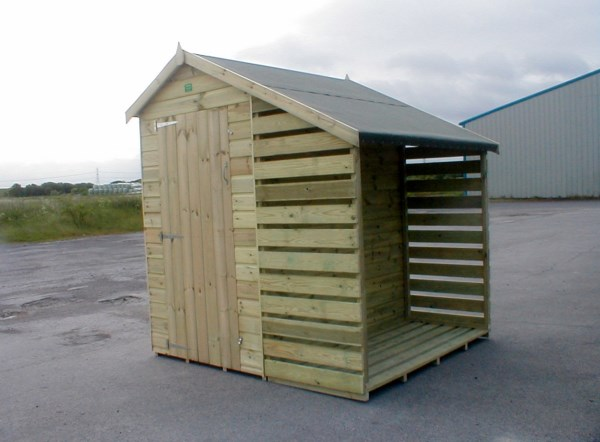 Garden shed wood store - Garden sheds with lean to ...