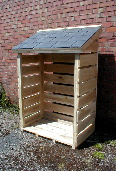 Log Store, Solid Oak. 25 Year Guarantee