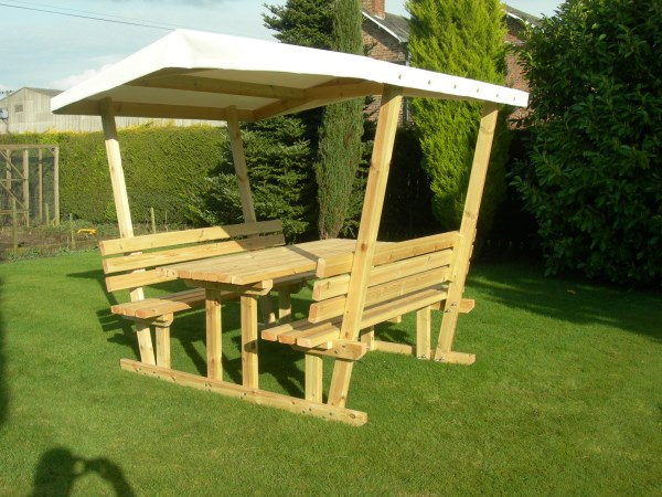 Covered Picnic Table Bench