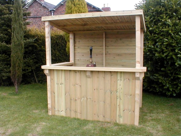 Home outdoor garden bar the man thing for Wood outdoor bar ideas