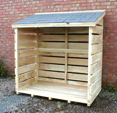 Large Oak Log Store 25 Year Guarantee