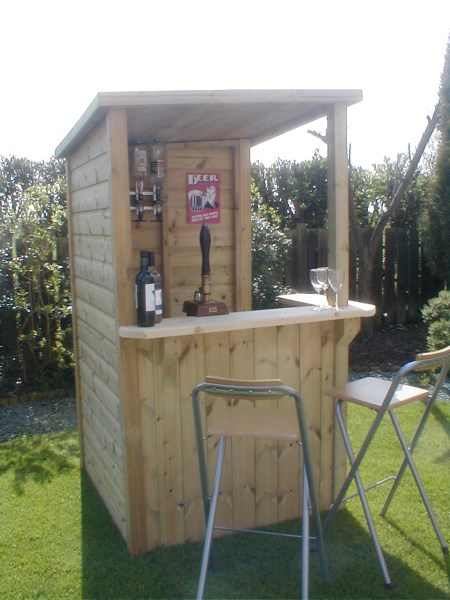 how to build a garden corner bar
