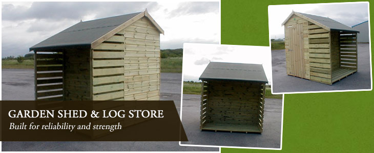 Garden Shed Log Store
